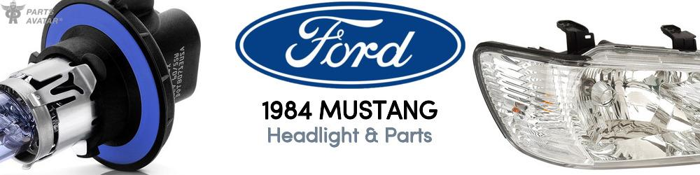 1984 Ford Mustang Headlight & Parts