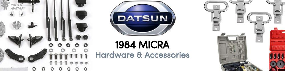 1984 Nissan Datsun Micra Hardware & Accessories