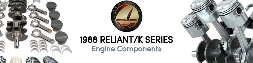 1988 Plymouth Reliant Engine Components