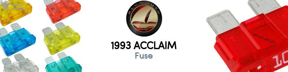 1993 plymouth acclaim fuse - partsavatar  partsavatar.ca