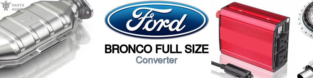 Ford Bronco Full Size Converter