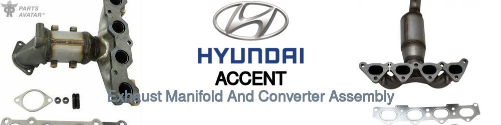 Hyundai Accent Exhaust Manifold And Converter Assembly