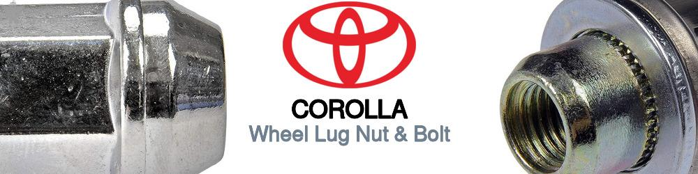 Toyota Corolla Wheel Lug Nut & Bolt