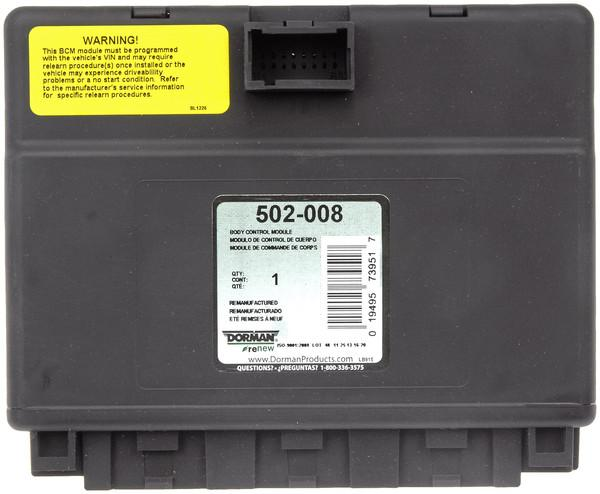 Remanufactured Electronic Control Unit
