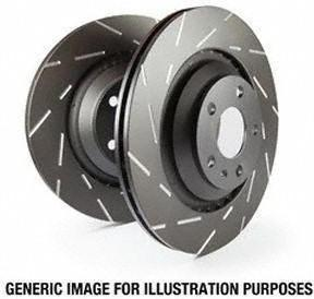 Disc Brake Rotor-EBC 3GD Series Sport Slotted Rotors Front EBC Brake GD7105
