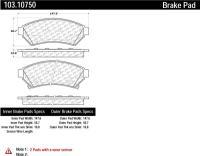 Front Ceramic Pads 103.10750