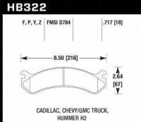 Front High Performance Pads HB322Y.717