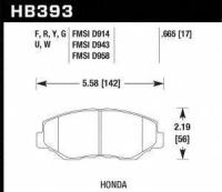 Front High Performance Pads HB393F.665