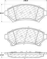 Front Premium Semi Metallic Pads 300.06990