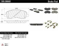 Front Premium Semi Metallic Pads 300.08660