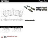 Front Semi Metallic Pads 102.07850