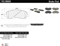 Front Semi Metallic Pads 102.08660