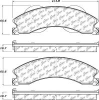 Front Severe Duty Semi Metallic Premium Pad 106.14110