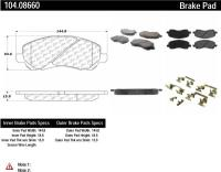 Front Super Premium Semi Metallic Pads 104.08660