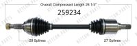 Left New CV Complete Assembly 259234
