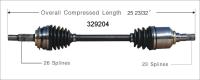 Left New CV Complete Assembly 329204