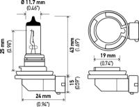 Low Beam Headlight H11LL