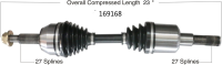 New CV Shaft 169168