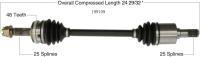 New CV Shaft 199109