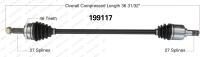 New CV Shaft 199117