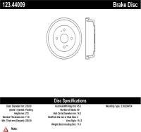 Rear Brake Drum 123.44009