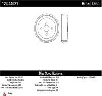 Rear Brake Drum 123.44021