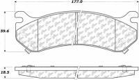 Rear Ceramic Pads 103.07850