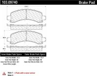 Rear Ceramic Pads 103.09740