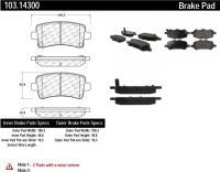 Rear Ceramic Pads 103.14300