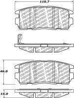 Rear Disc Pads 500.12750