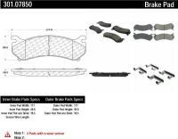 Rear Premium Ceramic Pads 301.07850