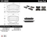 Rear Premium Ceramic Pads 301.08680