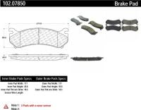 Rear Semi Metallic Pads 102.07850