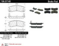 Rear Severe Duty Semi Metallic Premium Pad 106.07140