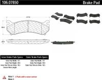 Rear Severe Duty Semi Metallic Premium Pad 106.07850