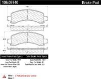 Rear Severe Duty Semi Metallic Premium Pad 106.09740