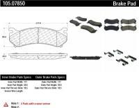 Rear Super Premium Ceramic Pads 105.07850
