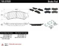 Rear Super Premium Ceramic Pads 105.07920