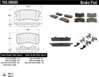Rear Super Premium Ceramic Pads 105.08680