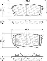 Rear Super Premium Ceramic Pads 105.10370