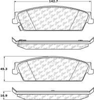 Rear Super Premium Ceramic Pads 105.11940