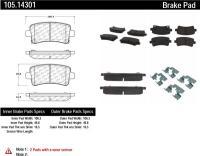 Rear Super Premium Ceramic Pads 105.14301