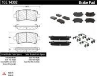 Rear Super Premium Ceramic Pads 105.14302