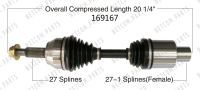Right New CV Complete Assembly 169167