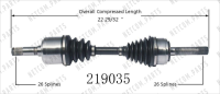 Right New CV Complete Assembly 219035