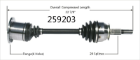 Right New CV Complete Assembly 259203