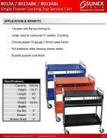 Service Cart SUN-8013A